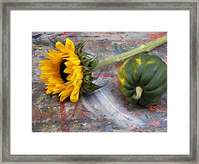 Still Life With Sunflower Framed Print