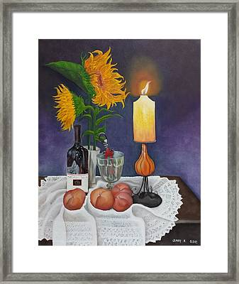 Still Life With Sunflowers Framed Print by Sunny  Kim
