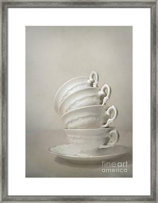 Still Life With Teacups Framed Print by Jaroslaw Blaminsky
