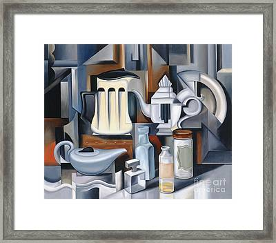 Still Life With Teapots Framed Print by Catherine Abel