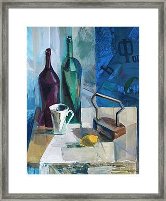 Still Life With The Iron Framed Print