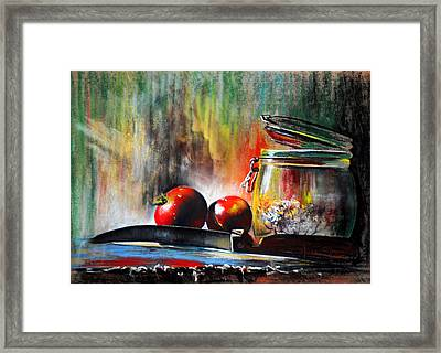 Still Life With Tomatoes Framed Print by James Skiles