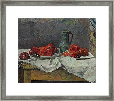 Still Life With Tomatoes Framed Print by Paul Gaugin