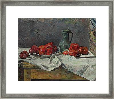 Still Life With Tomatoes Framed Print by Paul Gauguin