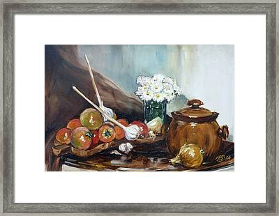 Still Life With Tomatos Framed Print by Irek Szelag