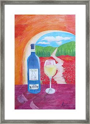 Tuscan Wine Framed Print