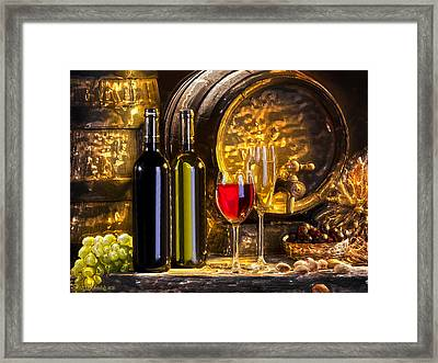 Still Life With Two Barrels.  Framed Print by Tautvydas Davainis