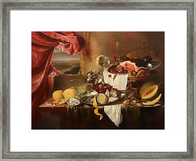 Still Life With View Framed Print