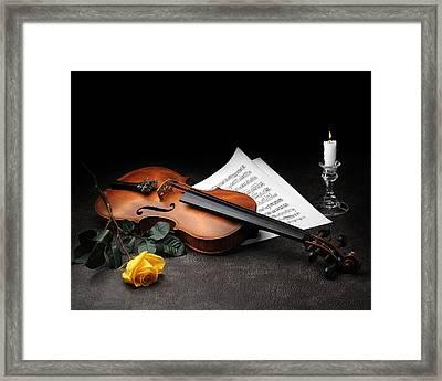 Still Life With Violin Framed Print by Krasimir Tolev