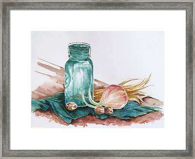Still Life With Walnuts Framed Print by Renee Goularte