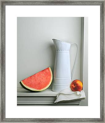 Still Life With Watermelon Framed Print by Krasimir Tolev