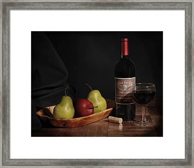 Still Life With Wine Bottle Framed Print by Krasimir Tolev