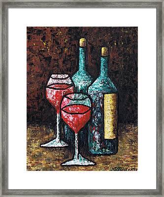 Still Life With Wine Framed Print by Kamil Swiatek