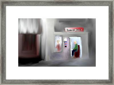 Framed Print featuring the digital art Still Open by Jessica Wright