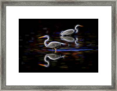Framed Print featuring the digital art Still Point Dancers 1 by William Horden