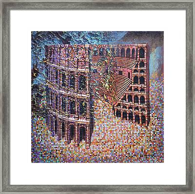 Framed Print featuring the painting Still Stadium by Mark Howard Jones