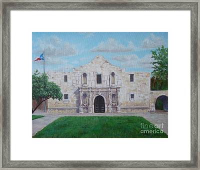 Still Standing Strong - The Alamo Framed Print by Terrie Leyton