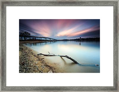 Still Sunset - Jonas Green Framed Print by Jennifer Casey