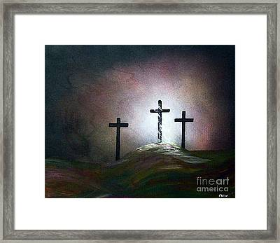 Framed Print featuring the painting Still The Light by Eloise Schneider