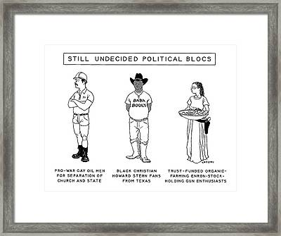Still Undecided Political Blocs Framed Print by Alex Gregory