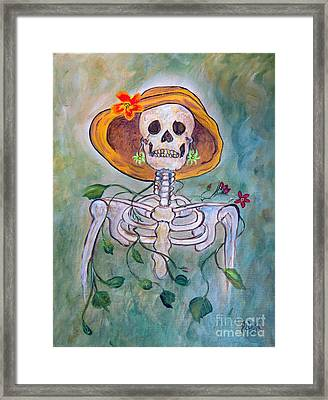 Framed Print featuring the painting Still Waiting For Mr. Right by Ella Kaye Dickey