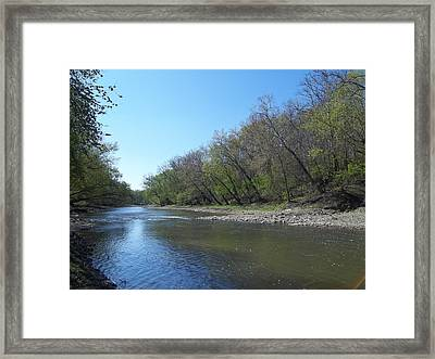 Framed Print featuring the digital art Still Water River by Eric Switzer