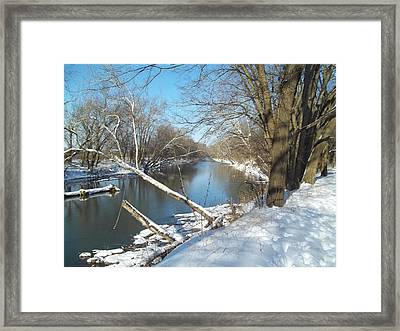Framed Print featuring the photograph Still Water River Winter by Eric Switzer