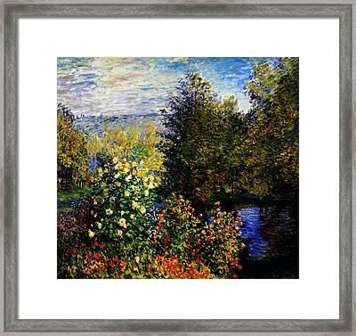 Stiller Winkel Im Garten Von Montgeron Framed Print