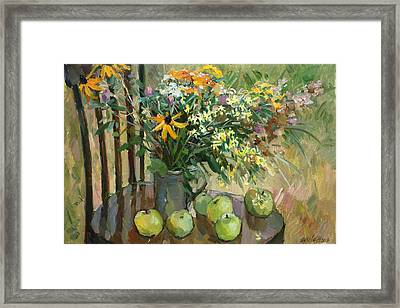 Stilllife With Apples Framed Print