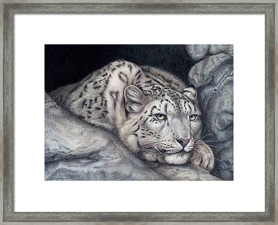 Framed Print featuring the painting Stillnes Like A Stone by Pat Erickson
