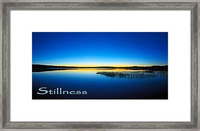 Stillness 1 Framed Print by ABeautifulSky Photography