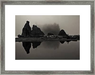 Stillness At Ruby Beach Framed Print