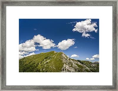 Stillness At The Peak Of Cimetta Framed Print by Ning Mosberger-Tang