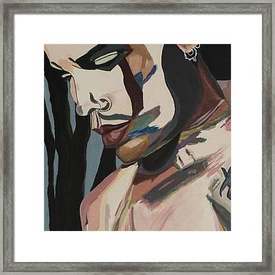 Stillness Of Heart Portrait Crop Framed Print