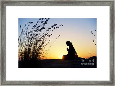 Stillness Of Prayer Framed Print by Tim Gainey