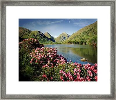 Stillness Of The Mountain Framed Print by Edmund Nagele