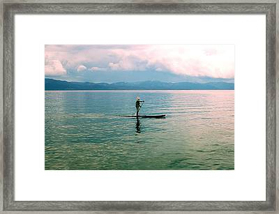 Stillness On The Lake Framed Print