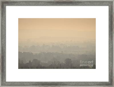 Stillness Over The Oxfordshire Countryside Framed Print by OUAP Photography