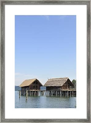 Stilt Houses At Lake Constance Germany Framed Print by Matthias Hauser
