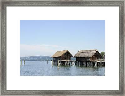 Stilt Houses In The Water Lake Constance Framed Print by Matthias Hauser