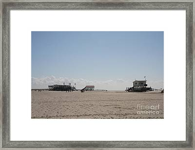 Stilt Houses - North Sea - Germany Framed Print by Christiane Schulze Art And Photography