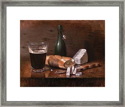 Stilton And Porter Framed Print by Timothy Jones