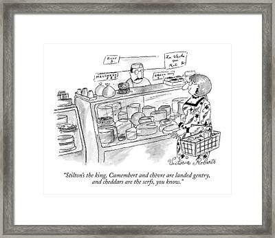 Stilton's The King Framed Print by Victoria Roberts