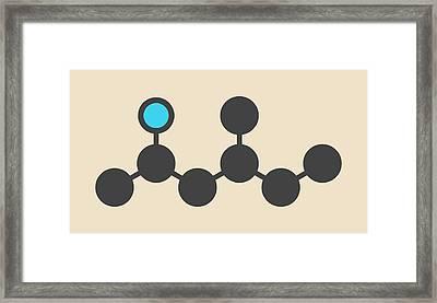 Stimulant Drug Molecule Framed Print