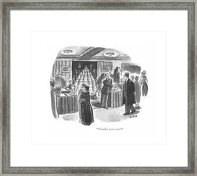 Stimulate Your Roots? Framed Print by Robert J. Day