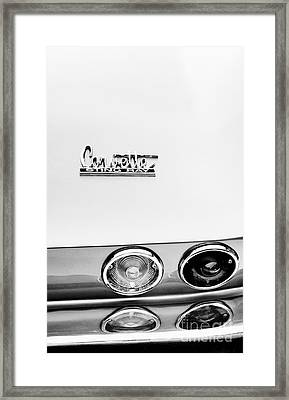 Sting Ray Abstract Framed Print by Tim Gainey