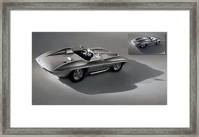 Sting Ray Concept Framed Print