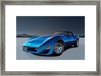 Stingray Blues Framed Print by Douglas Pittman