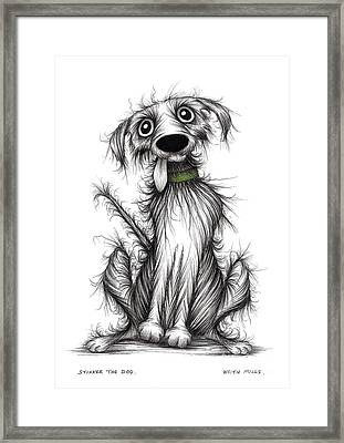 Stinker The Dog Framed Print by Keith Mills