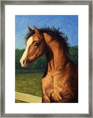 Framed Print featuring the painting Stir Crazy by James W Johnson